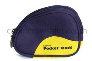 83004033 - Laerdal CPR Pocket Mask With O2 Inlet And Blue Soft Pouch