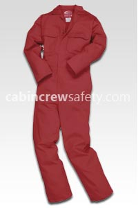 82000029 - cabin crew safety Flame Retardent Crew Training Coverall (5 Pk)