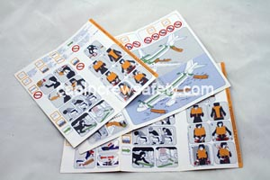 84000005 - Cabin Crew Safety Airbus A320 Cabin Passenger Seat Safety Card
