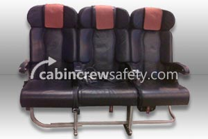 84000044 - Cabin Crew Safety Triple Leather Aircraft Passenger Seats
