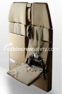84000049 - Cabin Crew Safety Airbus A320 Double Bulkhead Crew Seat