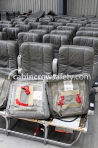 84000054 - Cabin Crew Safety Airbus A320 PAX Economy Triple Seats
