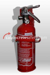 H1-10 AIR 170837B4 - SICLI MAIP Aircraft BCF Halon Fire Extinguisher