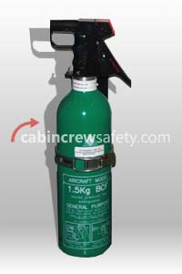 BA51015E-5 - FFE Aircraft BCF Halon Fire Extinguisher