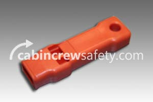 84000083 - Cabin Crew Safety Orange SOS Life Jacket Whistle (10 Pk)
