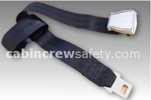 1027-2-011-2396 - AMSAFE Passenger Extension Belt - Black