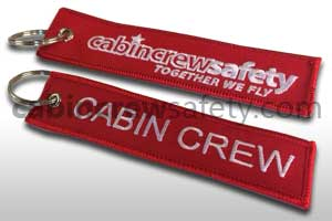 84000184 - Cabin Crew Safety Cabin Crew Luggage Tag Keyring 10Pk
