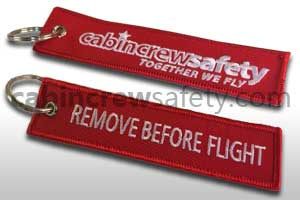 84000185 - Cabin Crew Safety Remove Before Flight Keychain 10Pk
