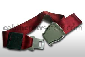 1028-1-021-8005 - AMSAFE Passenger Extension Belt Assembly Red