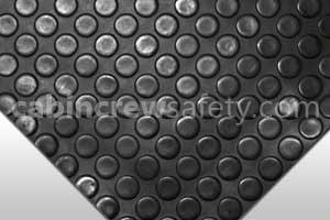 85000004 - Cabin Crew Safety Dot Studded Surface Flooring Black