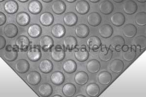 85000005 - Cabin Crew Safety Dot Studded Surface Flooring Grey