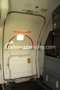86000010 - Cabin Crew Safety Boeing 737NG Door L1 Training Poster (Adhesive Vinyl)